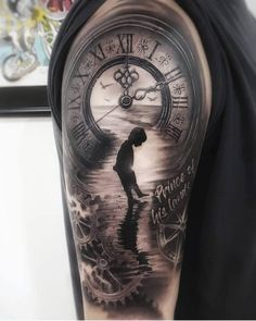 Tattoos Discover Time Hand Tattoos for Men . Time Hand Tattoos for Men . Daddy Tattoos Father Tattoos Hand Tattoos For Guys Family Tattoos Sexy Tattoos Cool Tattoos Time Piece Tattoo Pieces Tattoo Tattoo Time Lion Tattoo Sleeves, Forearm Sleeve Tattoos, Best Sleeve Tattoos, Tattoo Sleeve Designs, Tattoo Designs Men, Cool Tattoos, Sexy Tattoos, Daddy Tattoos, Father Tattoos