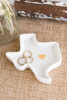 Texas Ceramic Trinket Dish