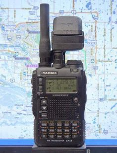 Yaesu VX-8 with GPS module.
