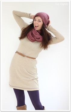 FrauFannie in gold (Doppelnaht) Punk, Google Tv, Turtle Neck, Sewing, Sweaters, Gold, Dresses, Inspiration, Fashion