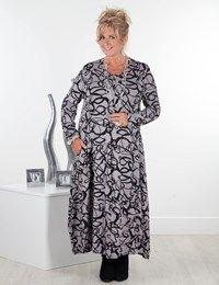 Plus size Dulcie grey dress