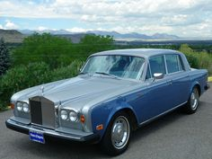 Make: 1980 Rolls Royce Silver Shadow II Odometer: 14,654 V.I.N. #: SRL39943 Stock #: B839 Exterior Color: Silver/Blue Interior: Gray