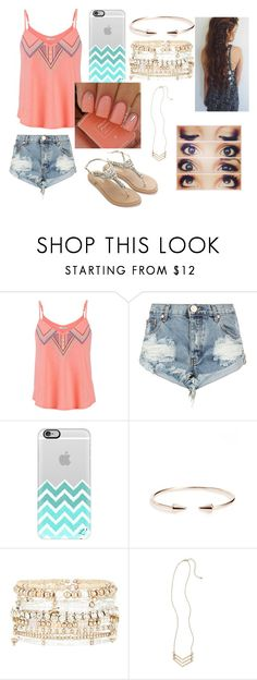 """""""summer is coming!!! (for me)"""" by ayapapaya268 ❤ liked on Polyvore featuring maurices, One Teaspoon, Casetify, Topshop, Accessorize and Girly"""