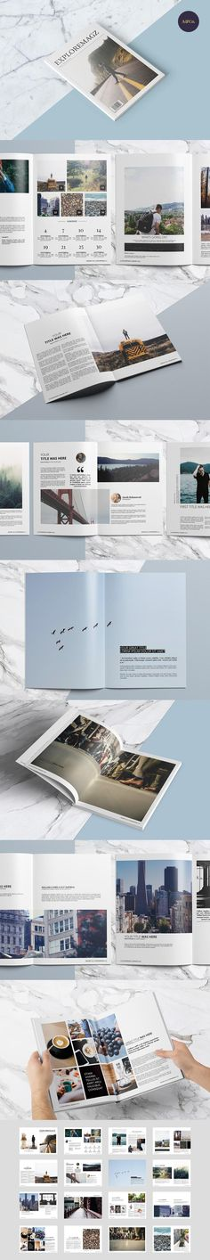 #magazine #design from Ally & Co. | DOWNLOAD: https://creativemarket.com/allyandco/452522-Exploremagz-Magazine?u=zsoltczigler