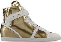 Barbara Bui mirrored leather sneakers