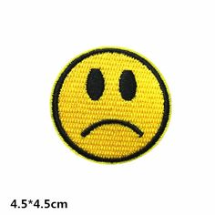 Sad expression face patch funny applique patch make embroidered patch iron on patches sew on patch iron on appliqué (A97)