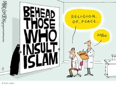 Islam is a religion of hate anything that oppose their beliefs. God will avenge. He is not mocked. Christ is the Way, the Truth and the Life. Political Satire, Political Cartoons, Funny Politics, Political Quotes, Atheist Humor, Thing 1, Islam Muslim, Islam Religion, Atheism