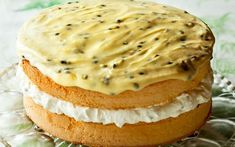 Feather Sponge Cake with Passionfruit Icing recipe | Food To Love