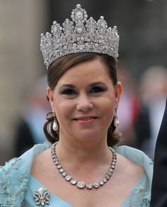 Is this the world's most beautiful tiara? TheLuxembourg Empire Tiara, worn here byDuches...