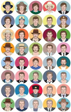 All of Harrison's characters - THIS IS AWESOME!!!!!!!!!!!!!!!!!!!!!!!!!!!!!!!!
