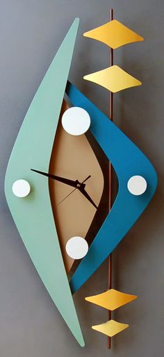 Retro modern clocks from Steve Cambronne. I want several.