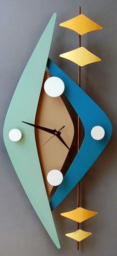 Retro modern clocks from Steve Cambronne. I want several.