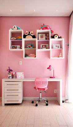 girls room diy Small Kids Room Ideas For Girls Diy Loft Beds 49 New Ideas Study Room Decor, Cute Room Decor, Girls Room Paint, Girl Room, Baby Room, Small Room Bedroom, Girls Bedroom, Small Rooms, Kids Rooms