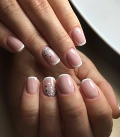 Trendy Ideas for wedding nails for bride nailart bridal beautiful Glitter Manicure, Sparkle Nails, Nail Manicure, Gel Nails, New Nail Colors, Manicure Colors, Easy Nails, Simple Nails, Bride Nails