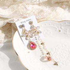 Kawaii Accessories, Jewelry Accessories, Ear Jewelry, Jewelery, Red Mermaid Dress, Fashion Rings, Fashion Jewelry, Wedding Lehenga Designs, Reign Dresses