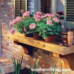 plant shelf outside kitchen window
