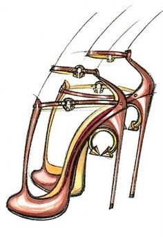 Spring 2011 Illustrated Shoe Designs: Guillaume Hinfray. Watch out for this upcoming designer
