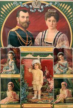 aw-laurendet: Poster of the Imperial Royal family. Tsar Nicolas, Grand Duchess Olga, House Of Romanov, Alexandra Feodorovna, Russian Literature, Intimate Photos, Imperial Russia, Family Album, Kaiser