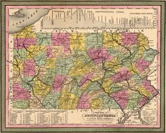 Pennsylvania State 1849 by Mitchell Historic Map. A wide and growing selection of inexpensive reprints of rare Historic Maps are available from Hearthstone Legacy Publications at: http://www.hearthstonelegacy.com/Historic-Map-Reprints.htm
