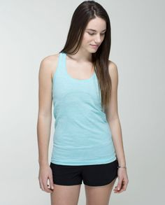 ad725699554d NWOT Lululemon Swiftly Tech Racerback Heathered Angel Blue Size 6  fashion   clothing  shoes