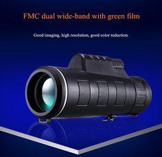Universal 10x40 Hiking Concert Camera Lens Zoom Telescope+Phone Holder For Smartphone Sale - Banggood.com