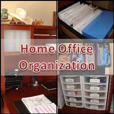 Home Office Organization - use drawers for small office supply items