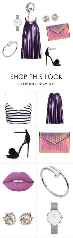 """🔎"" by lena1612 ❤ liked on Polyvore featuring New Look, Gucci, Monique Lhuillier, Rebecca Minkoff, Lime Crime, Cartier, April Soderstrom Jewelry and Daniel Wellington"
