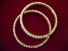 Artificial Pearl Bangles