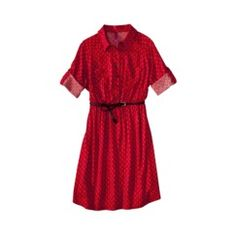 Pure Energy Juniors Plus-Size Elbow-Sleeve Shirt Dress - $27.99 this dress is perfect to wear with an up do and a bandana