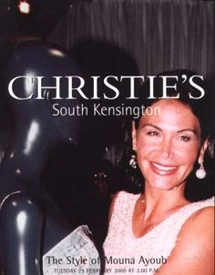2000 Christie's The Style of Mouna Ayoub, ( Couture clothes, shoes and handbags ) South Kensington, 2/29/00.