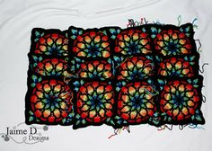 Jaime D. Designs: Stained Glass Afghan WIP Day 9