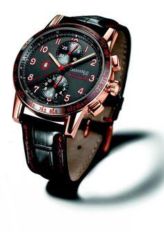 Eberhard Tazio Nuvolari Grand Prix en Or Chronograph watch Fine Watches, Cool Watches, Men's Watches, Unique Watches, Grand Prix, Popular Watches, Limited Edition Watches, Tie Accessories, Guy