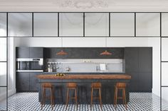 The Best Way How To Create Trendy Dark Kitchen Designs Which Combined With Variety of Attractive Decor Ideas In It - RooHome | Designs & Plans