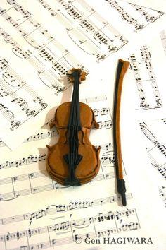 Origami Violin by ~GEN-H on deviantART