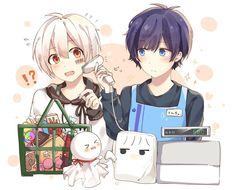 そらまふ Anime Neko, Kawaii Anime, Manga Anime, Anime Art, Chibi Boy, Cute Chibi, Otaku, Satsuriku No Tenshi, Pokemon
