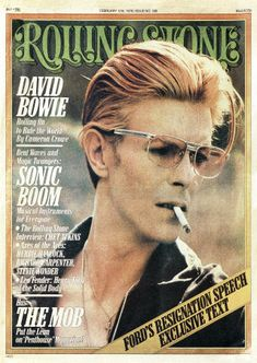 David Bowie, Rolling Stone; I believe teenaged Cameron Crowe had the cover story in this issue.