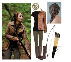"""Katniss Everdeen // Katniss Everdeen"" by the-mad-fangirls ❤ liked on Polyvore featuring 7 For All Mankind, Vince, Ann Demeulemeester and Frye"