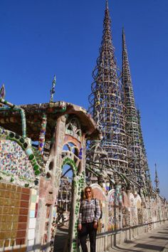 @Jill Smolinski 'Hood' #3: Watts Are you following author Jill Smolinski's 137 Hoods of LA in 1 year blog?  It's going to be a great way to see Los Angeles.  This is a photo of Jill in front of The Watts Towers.