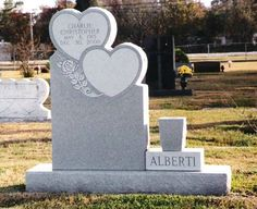 Heart Shaped Headstones and Cross Monuments can commemorate the love between two people or a family. Heart and Cross Monuments make excellent memorials. Funeral Flower Arrangements, Funeral Flowers, Tombstone Designs, Memorial Flowers, In Memory Of Dad, Grave Memorials, Cemetery, Headstone Ideas, Heart Shapes