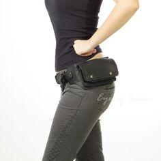 GO LUCK marca de cuero genuino pierna muslo cintura Fanny Gun Pack de hombres bolso de hombro Crossbody hombres bolsas de mensajero bolsa de teléfono
