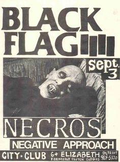 punk flyer, Black Flag, the Necros