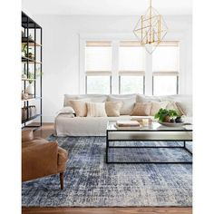 Rugs In Living Room, Home And Living, Living Room White Walls, Room And Board Living Room, Modern Living Room Furniture, Target Living Room, White Couch Living Room, Blue Living Room Decor, Blue Home Decor