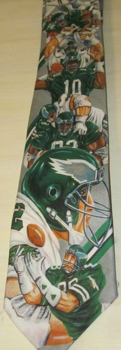Root your favorite NFL Team (Philadelphia Eagles) with this tie by Ralph Marlin and artist Ya Lee