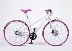Vé Comfort edition Pink via Buy the Vélosophy. Click on the image to see more! Bicycle Design, Bike, Orange, Purple, Classic, Stuff To Buy, Hotels, Flat, Veil