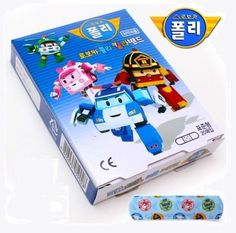 Robocar Poli - Band Aid Standard ( 1 Box , 20 Pads ) Korean Character Bandages #RobocarPoli #Mixed