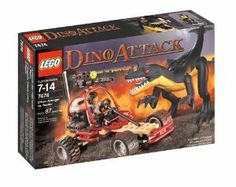 LEGO Dino Attack Urban Avenger vs. Raptor by LEGO. $104.99. Contains 87 pieces. Includes Shadow and Raptor figures. Urban Avenger equipped with sonic screamer and high-tech vehicle. From the Manufacturer                Shadow rides the Urban Avenger against the menace of the savage raptor! Using his sonic screamer and high-tech vehicle, he must defeat the dinosaur before it's too late! Includes Shadow and raptor figures.  87 pieces.                                    Produ...