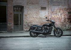 Beneath the #DarkCustom styling lurks a liquid-cooled 750cc Revolution X V-Twin engine. | 2016 Harley-Davidson Street 750 #harleydavidsonstreet7502016