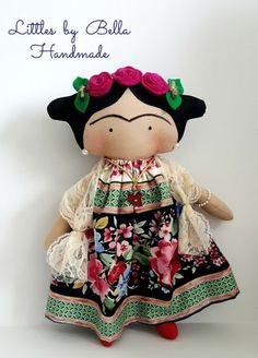 Molde Boneca de Feltro Frida Kahlo - Como Fazer