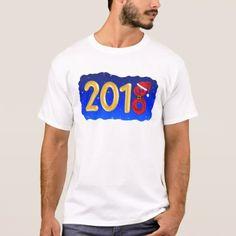 New Year 2018 Cartoon T-Shirt - holidays diy custom design cyo holiday family