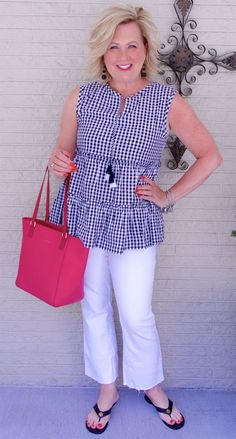 50 IS NOT OLD | CUTE AND FLIRTY | FASHION OVER 40 | Gingham Print | Tassels | Pop of Color | Cute and Casual | Fashion over 40 for the everyday woman